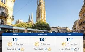 Weather in Bordeaux: forecast for Friday 18 October 2019